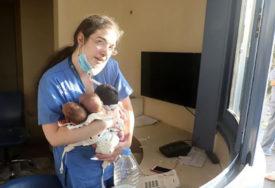POTRESNA FOTOGRAFIJA IZ BEJRUTA Medicinska sestra od eksplozije spasla TRI TEK ROĐENE BEBE