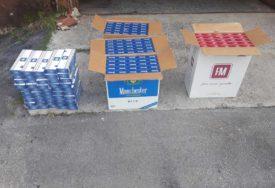 KRIJUMČAR BJEŽAO OD POLICIJE Zaplijenjeno 5.300 kutija cigareta, duvan i municija