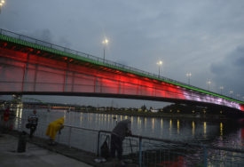 MISLI I MOLITVE SA GRAĐANIMA BEJRUTA Beograd u bojama libanske zastave