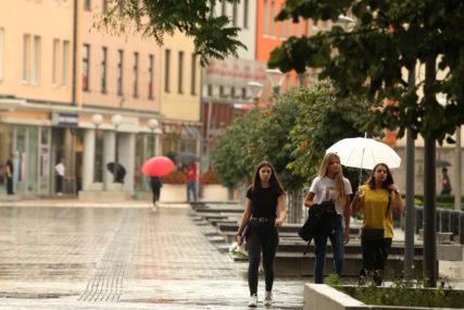 DANAS OBLAČNO VRIJEME Tokom dana prolazna kiša, uveče pljuskovi i grmljavina