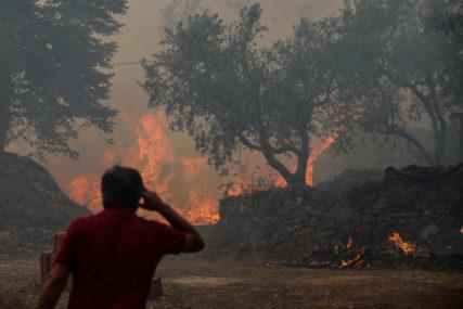 NEPRISTUPAČAN TEREN OTEŽAVA GAŠENJE Aktivan požar u brdima iznad Trebinja