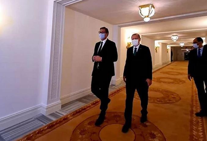 SASTANAK U ČETIRI OKA Vučić na radnom ručku sa Erdoganom (FOTO)