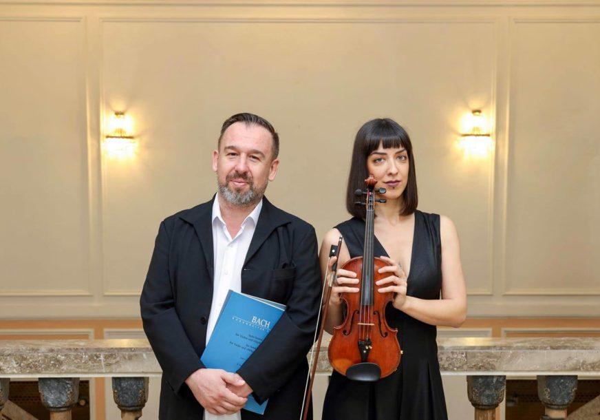 SONATE ZA VIOLINU I KLAVIR Koncert Milane Smiljanić i Dinka Blagojevića u Banskom dvoru