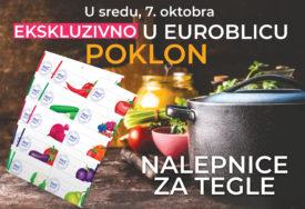 """POKLON ZA LAKŠU PRIPREMU ZIMNICE Kupite """"EuroBlic"""" 7. oktobra i dobićete NALJEPNICE ZA TEGLE"""
