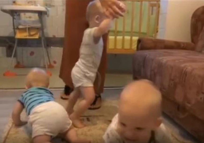 BOLJI USLOVI ZA VESELE TROJKE Georgina i njene bebe više ne žive u vlažnoj sobi (FOTO)