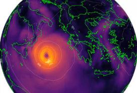 HIBRIDNA OLUJA PRIJETI GRČKOJ Očekuju se udari vjetra i do 180 na sat, talasi do 10 metara