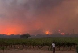 STRAVIČNI POŽARI DIVLJAJU KALIFORNIJOM Vatra guta vinograde, sve je u plamenu (VIDEO)