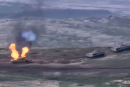 RATNO STANJE U JERMENIJI Oboreni helikopteri, uništeni tenkovi, CIVILNE ŽRTVE NA OBJE STRANE (VIDEO)