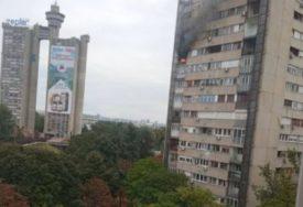 POŽAR NA NOVOM BEOGRADU Gori stan na 11. spratu zgrade