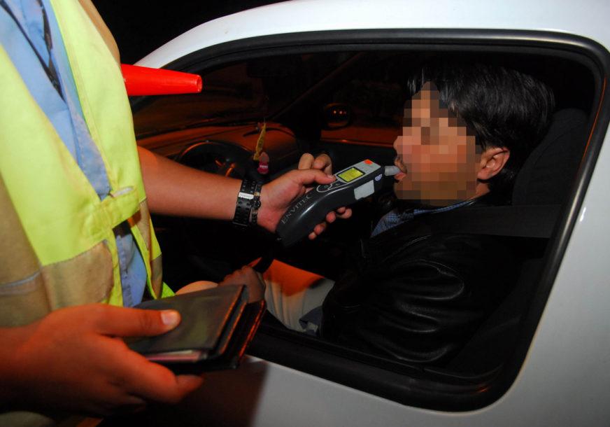 KAŽNJENA 33 PIJANA VOZAČA Tokom višednevne kontrole alko-testiranju podvrgnuto 379 osoba