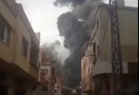 ŠIRI SE GUST DIM, STANOVNICI U PANICI Nova stravična eksplozija u Libanu (VIDEO)