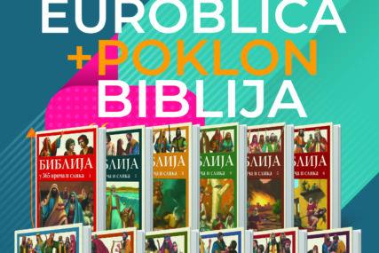 """""""EUROBLIC"""" NASTAVLJA DA POKLANJA Uz svaki primjerak novina za vikend dobijate Bibliju u 365 priča i slika"""