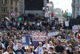 PROTEST U LONDONU Sukob policije i protivnika restriktivnih mjera