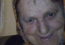 POTRAGA ZA ŽENOM U BRATUNCU Starica zadnji put viđena 13. oktobra