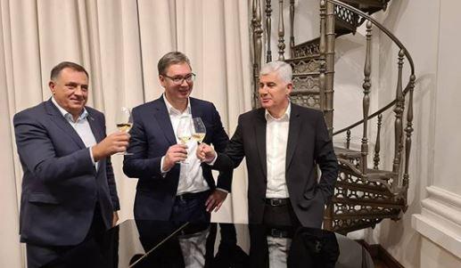 PREKO ČOVIĆA MIRE ZAGREB I BEOGRAD Burne reakcije na večeru kod predsjednika Srbije