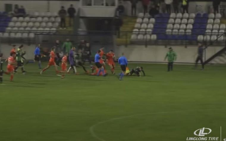 BRUKA U SRBIJI Sukob fudbalera dva kluba na meču u Lazarevcu (VIDEO)