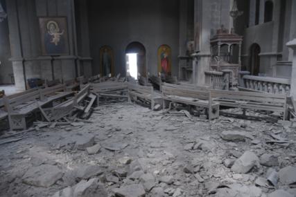 SRUŠENA SVETINJA Azerbejdžan u raketnom napadu RAZORIO PRAVOSLAVNU CRKVU (FOTO)