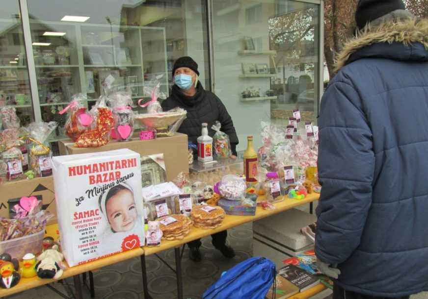 AKCIJA U ŠAMCU ZA JEDNOGODIŠNJU DJEVOJČICU Danas i u subotu humanitarni bazar za Minju Matić