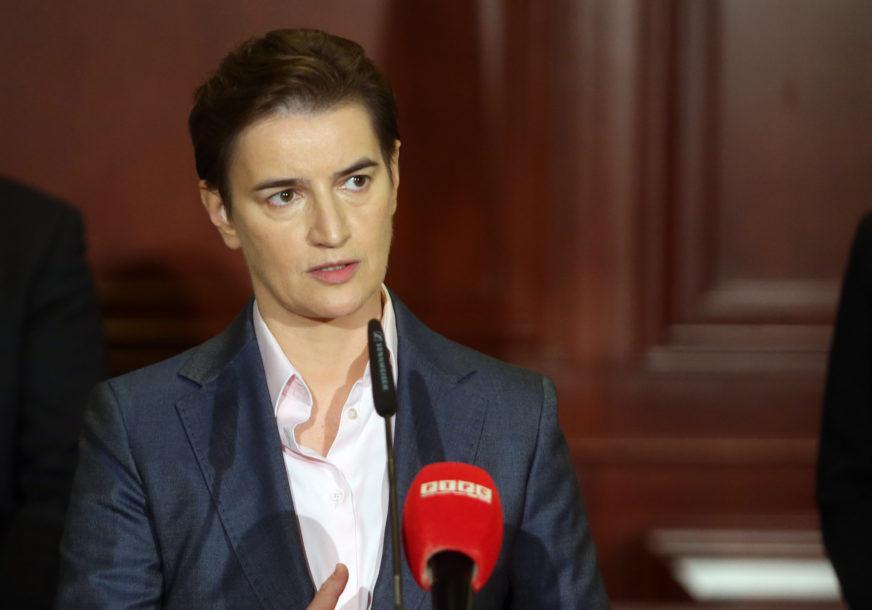 Brnabićeva: Nerazumno otkrivati karte o Kosovu i Metohiji