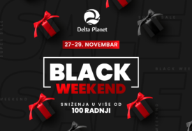 BLACK FRIDAY VIKEND U DELTA PLANETU Sniženja do 60% u više od 100 radnji!
