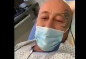 ANTIKOVIDAŠ U BOLNICI ZBOG KORONE Iz bolničkog kreveta poziva ljude da izađu na ulice protiv mjera
