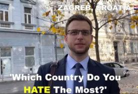 IZNENADIO SE ODGOVORIMA Nakon što je pitao Srbe koju državu najviše mrze, jutjuber otišao u Zagreb (VIDEO)