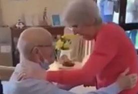 LJUBAV JAČA OD VIRUSA Nakon dva mjeseca borbe sa koronom, djed (91) se sreo sa suprugom (87), pa RASPLAKAO SVE