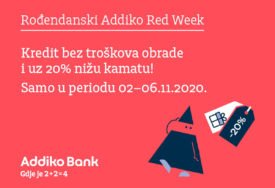 ROĐENDANSKI ADDIKO RED WEEK Dupli dobitak za Addiko 2+2 rođendan!