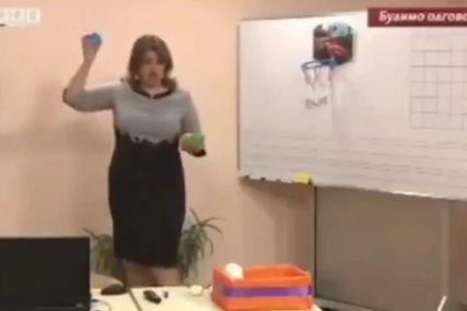 """""""UPS, JA PROMAŠILA"""" Simpatična učiteljica iz Prijedora ponovo POSTALA HIT na društvenim mrežama (VIDEO)"""