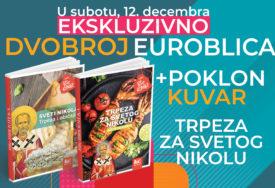 """""""EUROBLIC"""" POKLANJA 12. DECEMBRA Uz svaki primjerak novina dobićete poklon kuvar trpeza za Svetog Nikolu"""