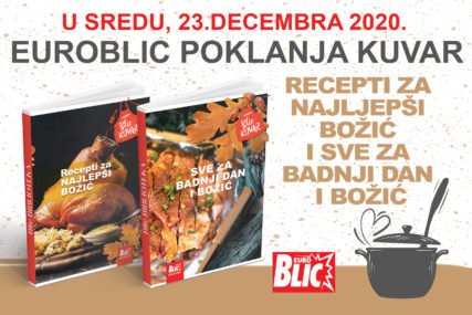 "RECEPTI ZA NAJLJEPŠI BOŽIĆ ""EuroBlic"" čitaocima POKLANJA KNJIGE"