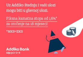 Addiko banka pokrenula VELIKU AKCIJSKU PONUDU oročene štednje: Kamatna stopa od 1,6% za oročenje na 18 mjeseci