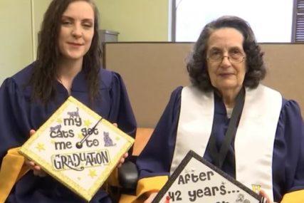 FAKULTET ZAVRŠILA U OSMOJ DECENIJI  Baka diplomirala na isti dan kad i unuka