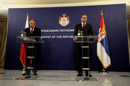 """""""POTVRĐENO PRIJATELJSTVO DVIJE ZEMLJE"""" Vučić i Lavrov saglasni o razvoju saradnje Srbije i Rusije"""