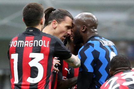 SUKOB NEKADAŠNJIH SAIGRAČA Ibrahimović i Lukaku u klinču, Zlatan isključen, Inter u polufinalu (VIDEO)