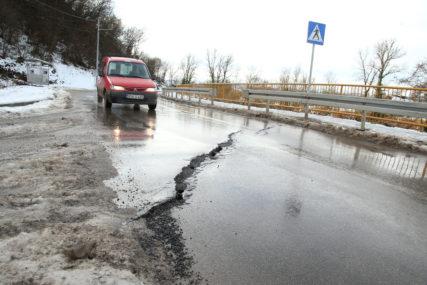 Sanacija klizišta i izgradnja dijela saobraćajnice: U subotu obustava saobraćaja prema Priječanima