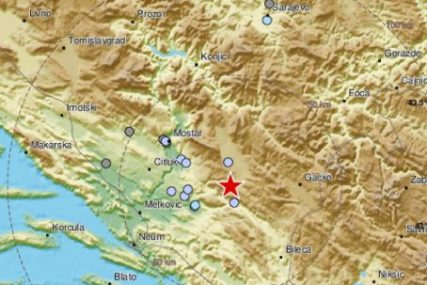 EPICENTAR KOD STOCA Zemljotres potresao Bosnu i Hercegovinu