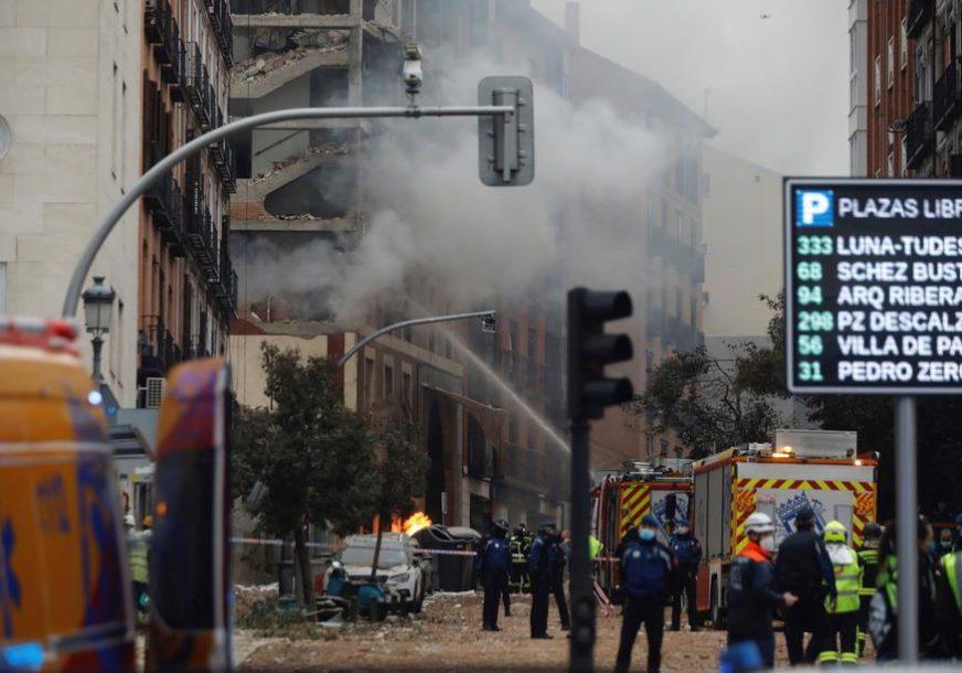 VIŠE LJUDI POVRIJEĐENO U stravičnoj eksploziji u Madridu poginule TRI OSOBE