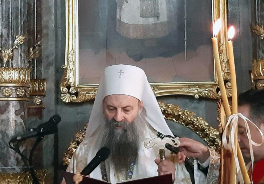 """""""Čovjek je stvoren ljubavlju božjom"""" Patrijarh Porfirije služio liturgiju"""