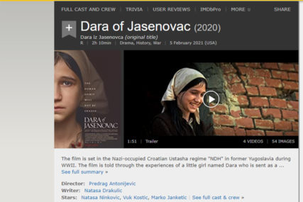 """Filmska platforma IMDB uklonila mogućnost ocjenjivanja filma """"Dara iz Jasenovca"""""""