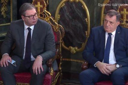 Svečani čin u Sabornoj crkvi u Beogradu: Dodik i Vučić stigli na ustoličenje patrijarha Porfirija