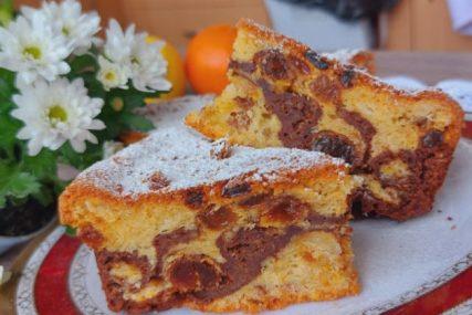 Jednostavan mirisni kolač sa čokoladom idealan za druženje uz kaficu