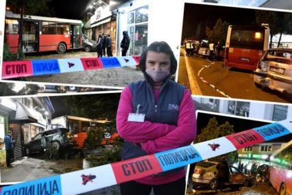 """Radnici lokala u koji se zakucao autobus još u šoku """"Pokupio je kola s parkinga i umalo se zakucao u nas"""" (VIDEO)"""