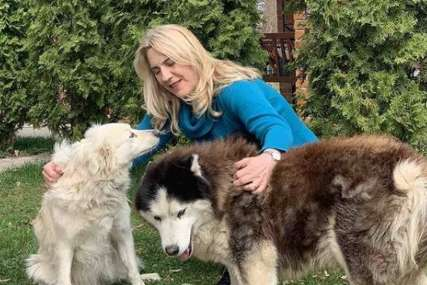 """""""MNOGO ZNAČE CIJELOJ PORODICI"""" Predsjednica Srpske objavila fotografije druženja sa psima Bartom i Belom (FOTO)"""
