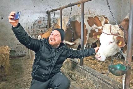 SELFI SA KRAVOM I KOZOM Dušan se vratio u rodno selo, radi u polju i piše knjige, a postao je i zvijezda Fejsbuka