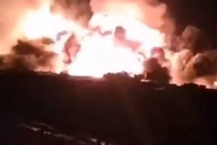 Eksplozija u skladištu municije kod Rijada