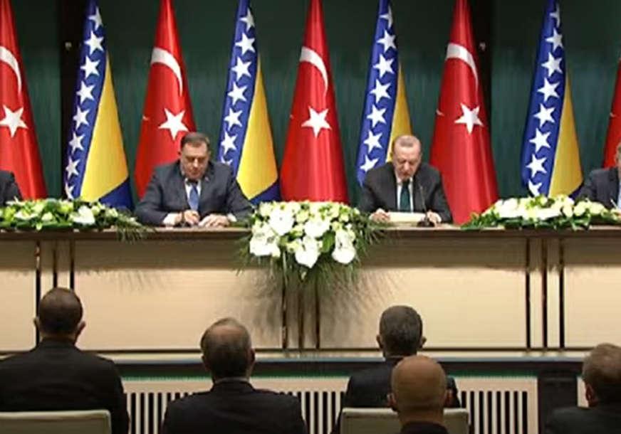 Erdogan nakon sastanka sa članovima Predsjedništva: Turska će dostaviti 30.000 doza vakcina BiH