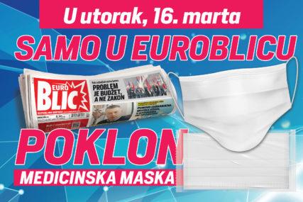 """ZAŠTITIMO SEBE I DRUGE Uz """"EuroBlic"""" dobijate medicinsku masku"""