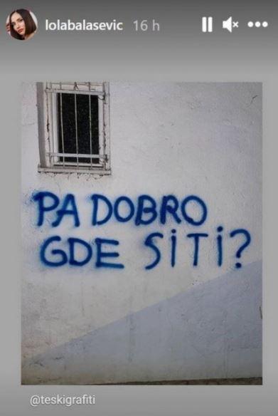 FOTO: LOLA BALAŠEVIĆ/INSTAGRAM