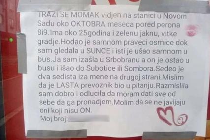 """Ljubavi apel zapalio društvene mreže: Svi tragaju za """"mladićem u zelenoj jakni sa stanice u Novom Sadu"""""""